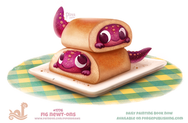 Daily Paint 1776# Fig Newt-ons by Cryptid-Creations