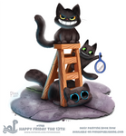 Daily Paint 1788# Happy Friday The 13th by Cryptid-Creations