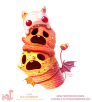 Daily Paint 1789# Ice Scream by Cryptid-Creations