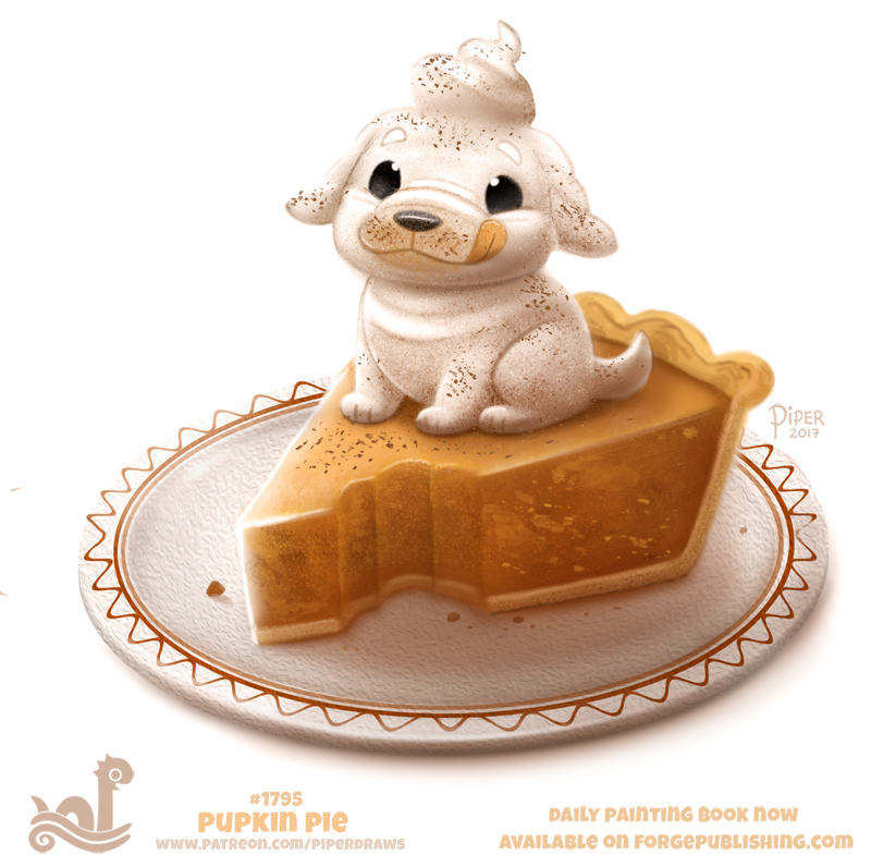 Daily Paint 1795# Pupkin Pie by Cryptid-Creations