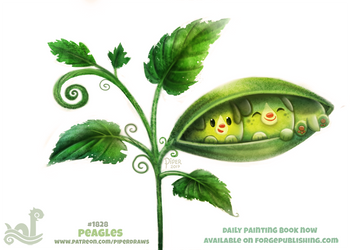 Daily Paint 1828# Peagle by Cryptid-Creations
