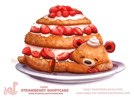 Daily Paint 1840# Strawbeary Shortcake by Cryptid-Creations