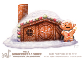 Daily Paint 1850# Gingerbread Shire by Cryptid-Creations