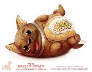 Daily Paint 1889# Baked Pugtato by Cryptid-Creations