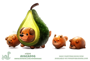 Daily Paint 1894# Avacadog by Cryptid-Creations