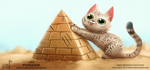 Daily Paint 1898# Purramid by Cryptid-Creations