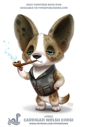 Daily Paint 1902# Cardigan Welsh Corgi by Cryptid-Creations