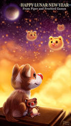 Happy Lunar New Year! #FindingParadise by Cryptid-Creations