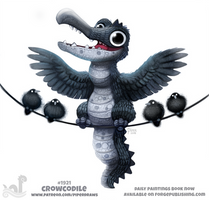 Daily Paint 1921# Crowcodile by Cryptid-Creations