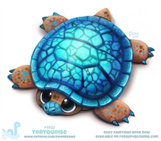 Daily Paint 1922# Tortquoise by Cryptid-Creations