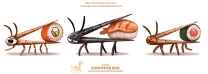 Daily Paint 1926# Chopstick Bug by Cryptid-Creations
