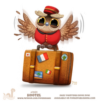 Daily Paint 1931# Hootel by Cryptid-Creations