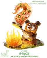 Daily Paint 1956# E-wok by Cryptid-Creations