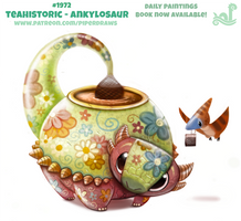 Daily Paint 1972# Teahistoric - Ankylosaur by Cryptid-Creations