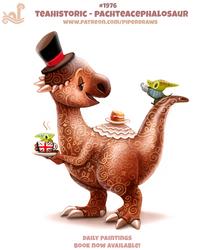 Daily Paint 1976# Teahistoric - Pachteacephalosaur by Cryptid-Creations