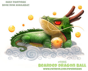 Daily Paint 1995# Bearded Dragon Ball by Cryptid-Creations