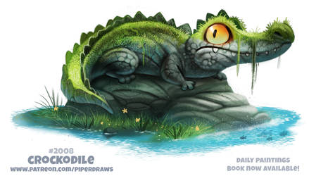 Daily Paint 2008# Crockodile by Cryptid-Creations