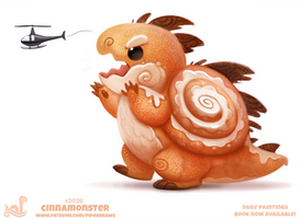Daily Paint 2036# Cinnamonster by Cryptid-Creations