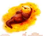 Daily Paint 2046# Hotter by Cryptid-Creations