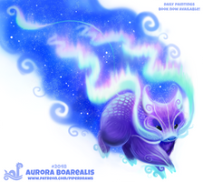 Daily Paint 2048# Aurora Boarealis by Cryptid-Creations