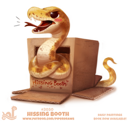 Daily Paint 2050# Hissing Booth by Cryptid-Creations
