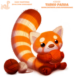 Daily Paint 2059# Thred Panda by Cryptid-Creations