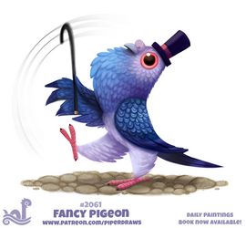 Daily Paint 2061# Fancy Pigeon by Cryptid-Creations