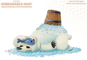 Daily Paint #2065. Unbearable Heat by Cryptid-Creations