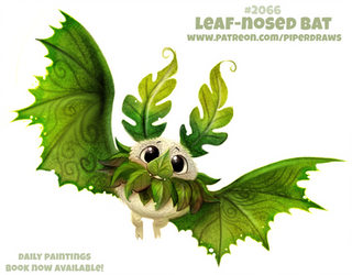 Daily Paint #2066. Leaf-nosed Bat by Cryptid-Creations