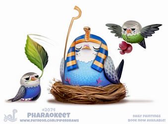 Daily Paint #2074. Pharaokeet by Cryptid-Creations