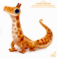 Daily Paint #2075. Long Necko by Cryptid-Creations