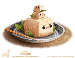 Daily Paint 2084. Tofugu by Cryptid-Creations