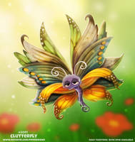 Daily Paint 2091. Clutterfly by Cryptid-Creations