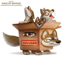 Daily Paint 2093. Pack of Wolves by Cryptid-Creations