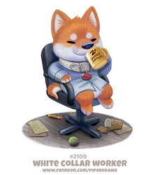 Daily Paint 2100. White Collar Worker by Cryptid-Creations