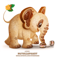 Daily Paint 2101. Nutellaphant by Cryptid-Creations