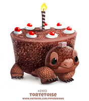 Daily Paint 2102. Torte-toise by Cryptid-Creations
