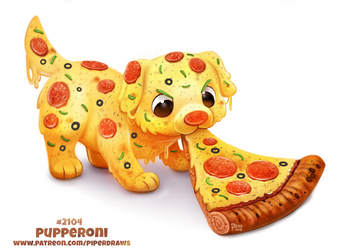Daily Paint 2104. Pupperoni by Cryptid-Creations