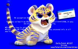 Daily Paint 2107. Erroar by Cryptid-Creations