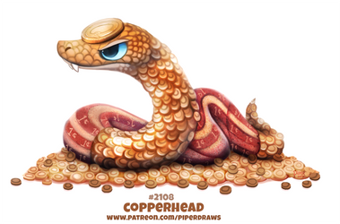 Daily Paint 2108. Copperhead by Cryptid-Creations