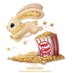 Daily Paint 2110. Hopcorn by Cryptid-Creations
