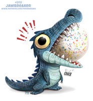 Daily Paint 2112. Jawbreaker by Cryptid-Creations