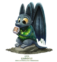 Daily Paint 2115. Gargyle by Cryptid-Creations