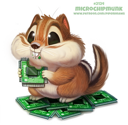 Daily Paint 2124. Microchipmunk by Cryptid-Creations