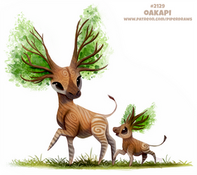 Daily Paint 2129. Oakapi by Cryptid-Creations