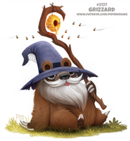 Daily Paint 2137. Grizzard by Cryptid-Creations