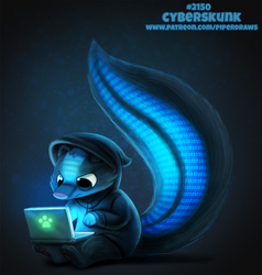 Daily Paint 2150. Cyberskunk by Cryptid-Creations
