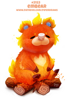 Daily Paint 2153. Embear by Cryptid-Creations