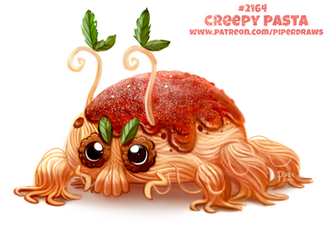 Daily Paint 2164. Creepy Pasta by Cryptid-Creations