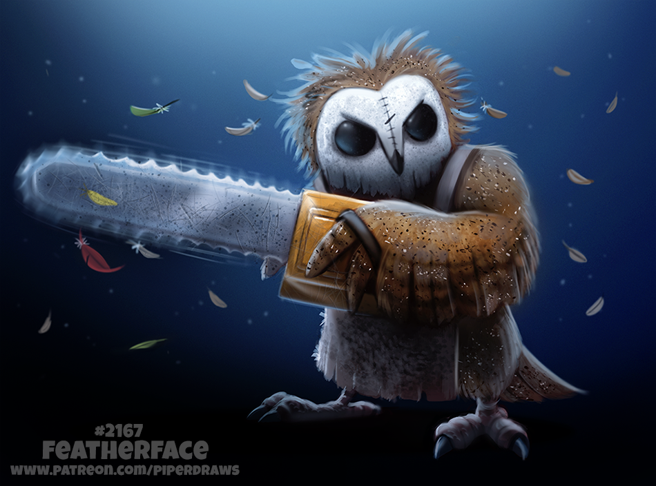 Daily Paint 2167. Featherface by Cryptid-Creations